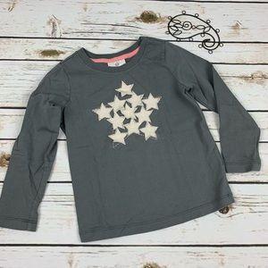 Hanna Andersson 100 Shirt Gray Star Long Sleeve